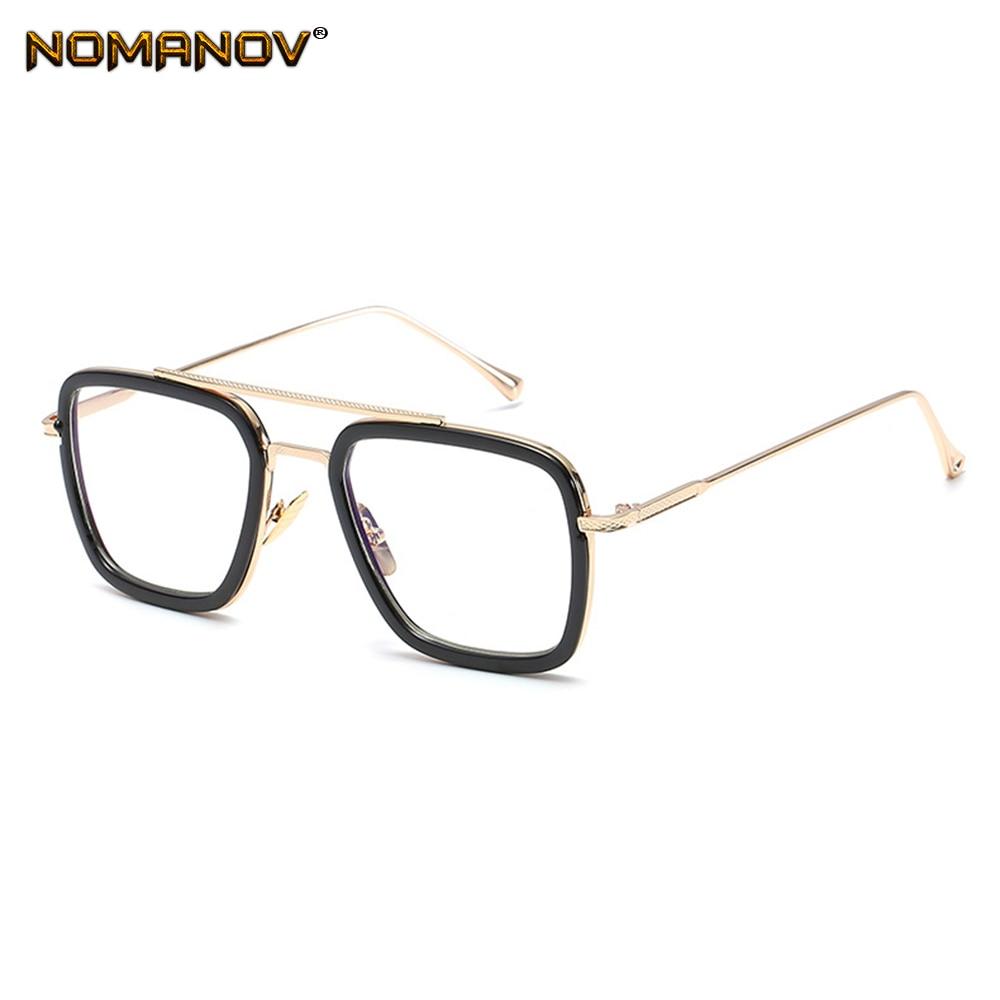 Custom Made Prescription Optical Glasses Photochromic Classic Large Alloy Full-rim Double Bridge Fra