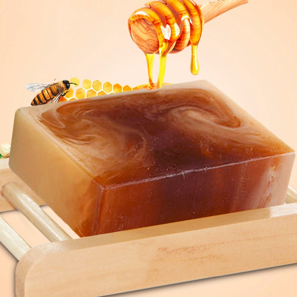 Natural Honey Milk Soap Moisten Skin Facial Clean Washing Face Pore Minimizing Replenishing Water Handmade Soap Bath Supply
