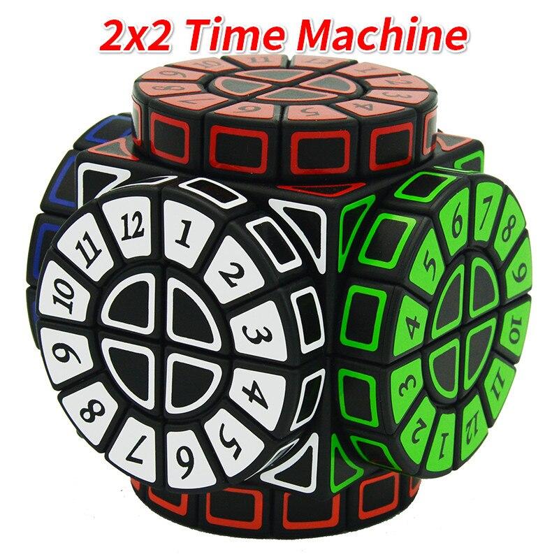 2x2 pegatinas de Cubo de la máquina del tiempo, rompecabezas de Cubo mágico de velocidad, versión limitada, forma de ruedas de la sabiduría Cubo mágico aprendizaje