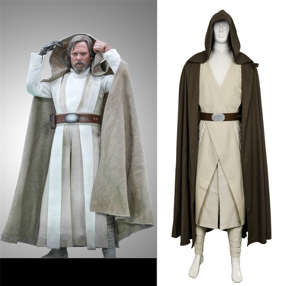 Takerlama Star Wars 8 El último Jedi Luke SkyWalker disfraz Cosplay Halloween vestido carnaval adulto Fatastic conjunto completo
