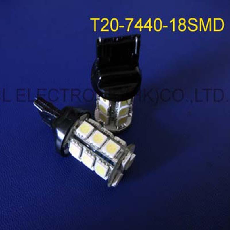 High quality DC12V T20 3W 7440 Auto led Rear lights,W21W Car Turn Signal Tail lamps,7440 Reverse bulbs free shipping 50pcs/lot