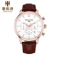 Top Brand HOLUNS Men's Watch Waterproof Business Casual Sports Wristwatch Luxury Male Quartz Watches Clocks relogio masculino