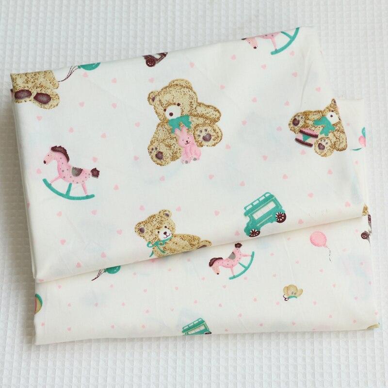 Tela de algodón con estampado de cerveza con dibujo verde de 100x160cm para coser ropa de cama, tela de algodón, tela de retales para chico tejido Tilda