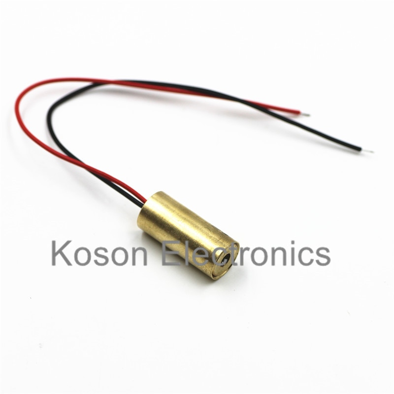 650nm 9mm 3V 50mW Módulo de diodo de punto láser rojo cobre cabeza