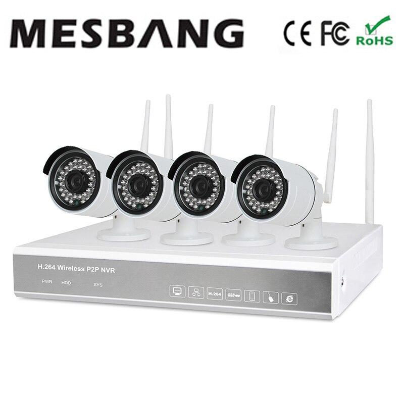 Mesbang construir em 1 TB HDD driver de disco rígido sem fio wi-fi ip cctv kits de câmera 960 P fácil de instalar frete grátis