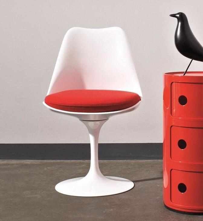 Классический тюльпан стул с Алюминий базы поворотный Tulip современный Пластик
