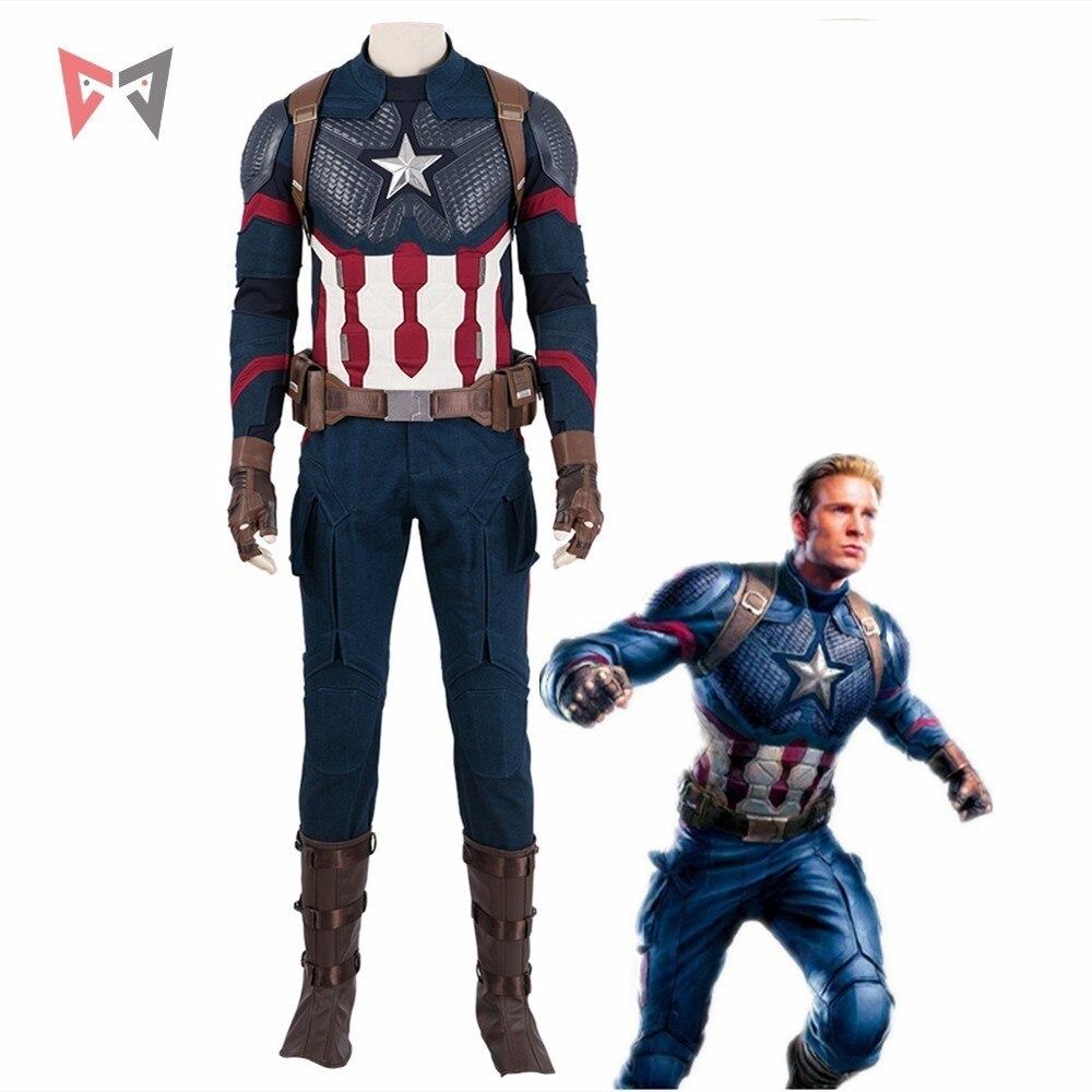 Disfraz de Cosplay de Los Vengadores 4 Endgame de Capitán América, disfraz de Steven Roger, disfraz de Halloween, Carnival, chaleco para fiesta, juego completo hecho a medida