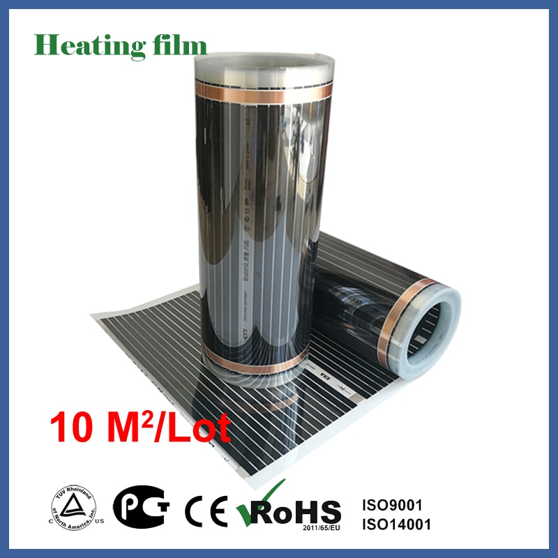 TF-فيلم تدفئة الأرضية بالأشعة تحت الحمراء ، 220 فولت ، 10 أمتار مربعة ، ألياف الكربون ، تدفئة الأرضية ، غرفة المعيشة