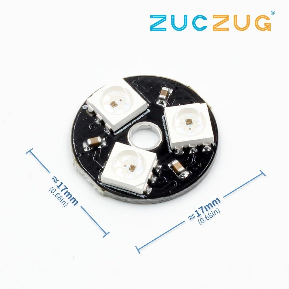 WS2812 3Bit 5V 5050 RGB LED Lamp Panel Board Round