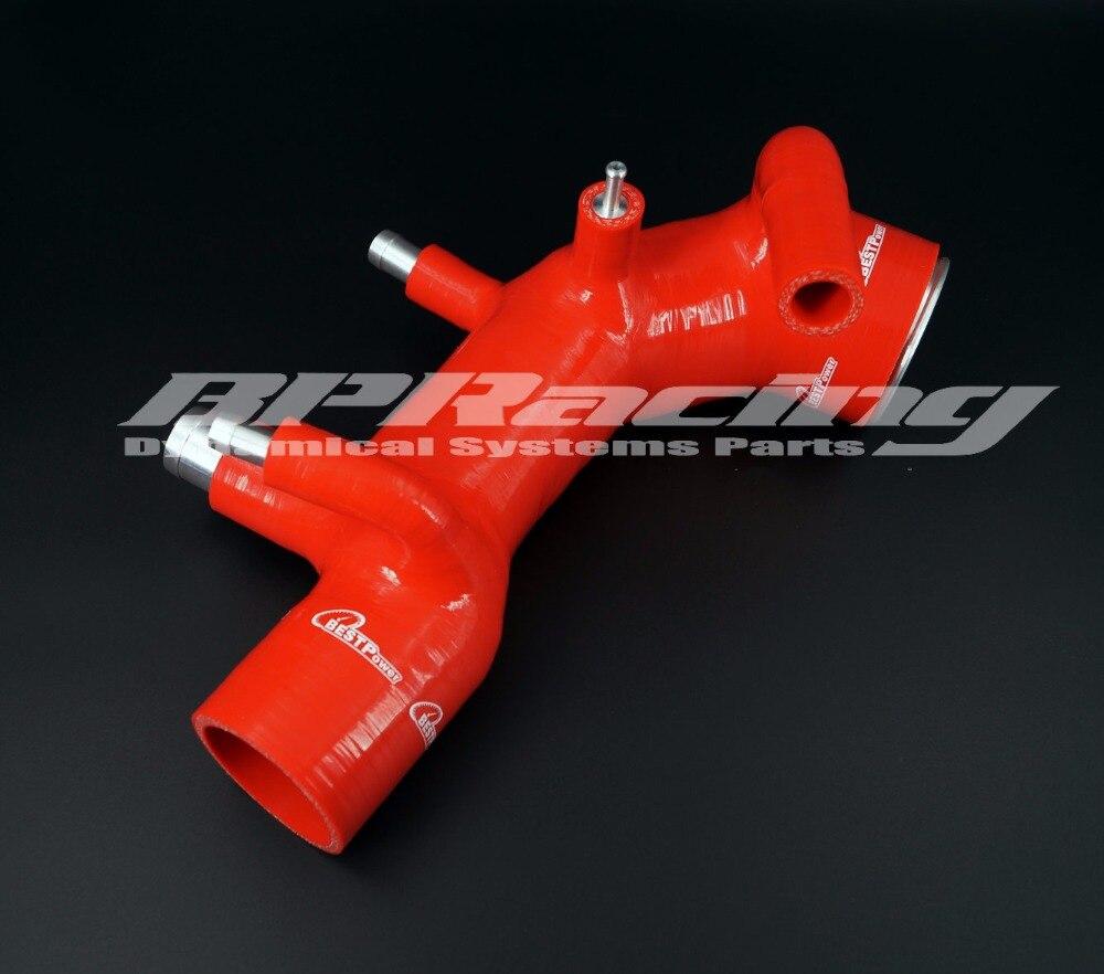 Manguera de inducción de admisión de aire de silicona para Subaru Impreza GC8 EJ20 WRX STI Ver3/4 rojo