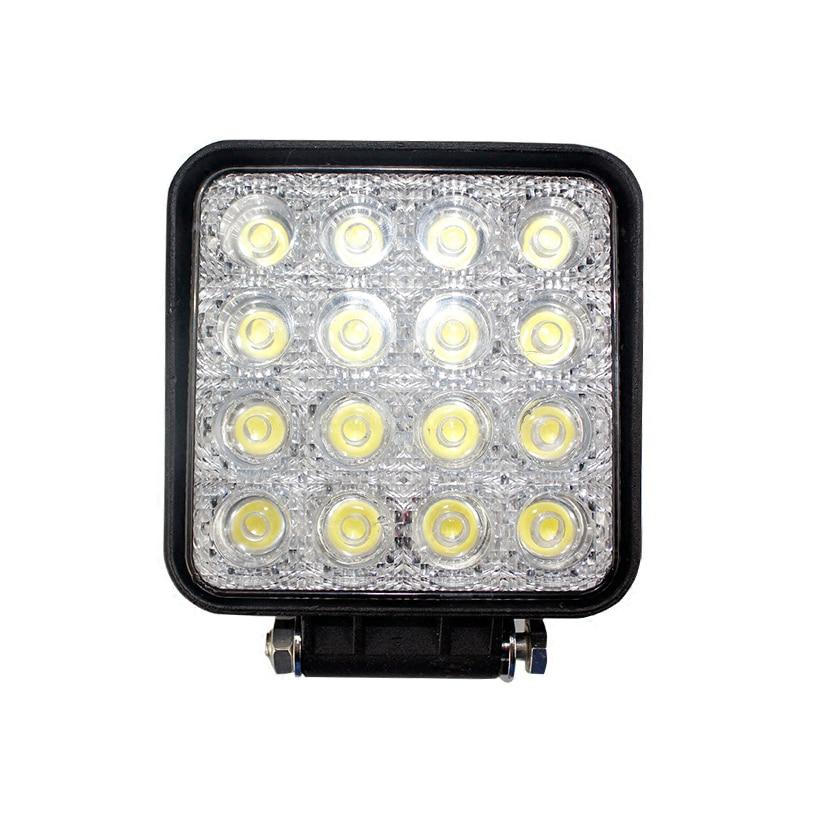 Free shipping 48 W LED Work Light Bar 16 X 3w LedChip Flood Spot Beam Spotlight Offroad Light Bar Fit ATV outdoor Light