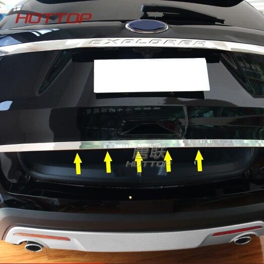 Ajuste para Ford Explorer 2016 2017 Acero inoxidable puerta trasera cubierta de tapa de maletero Trim