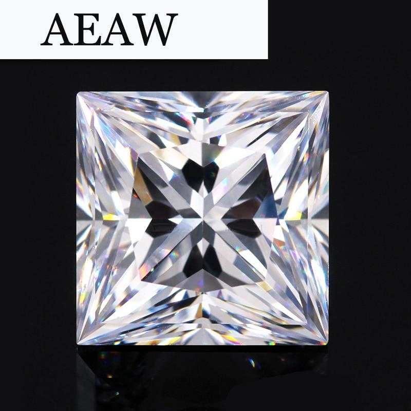 AEAW 3 قيراط 8 ملليمتر x 8 ملليمتر F اللون الأميرة كربيد سيليكون مقطع مختبر الماس فضفاض حجر اختبار إيجابي كما الحقيقي الماس