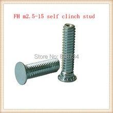 Tige de vis en acier   1000 pièces avec revêtement en zinc blanc, PEM FH m2.5 * 15 vis auto-agrippante pression