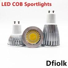 Super lumineux GU10 ampoule réglable chaud/blanc 85-265V 6W 9W 12W GU10 COB lampe LED GU10/E27/E14 projecteur LED
