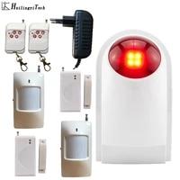 Alarme Flash sans fil  sirene  systeme de securite domestique  maison  Garage  controleur de detecteurs sans fil 110db