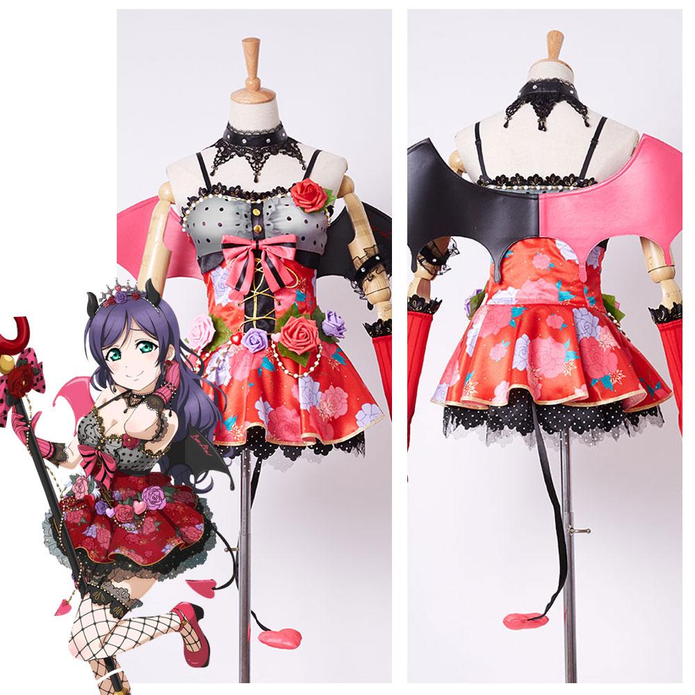 LoveLive! Love Live New UR Nozomi Tojo Little Demon Devil Transformed Uniform Halloween Party Cosplay Costume Full Set