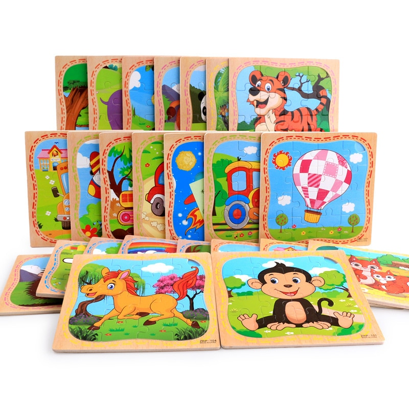 Animal Wooden model Toy Jigsaw puzzle wood toy baby educational toys gifts for children
