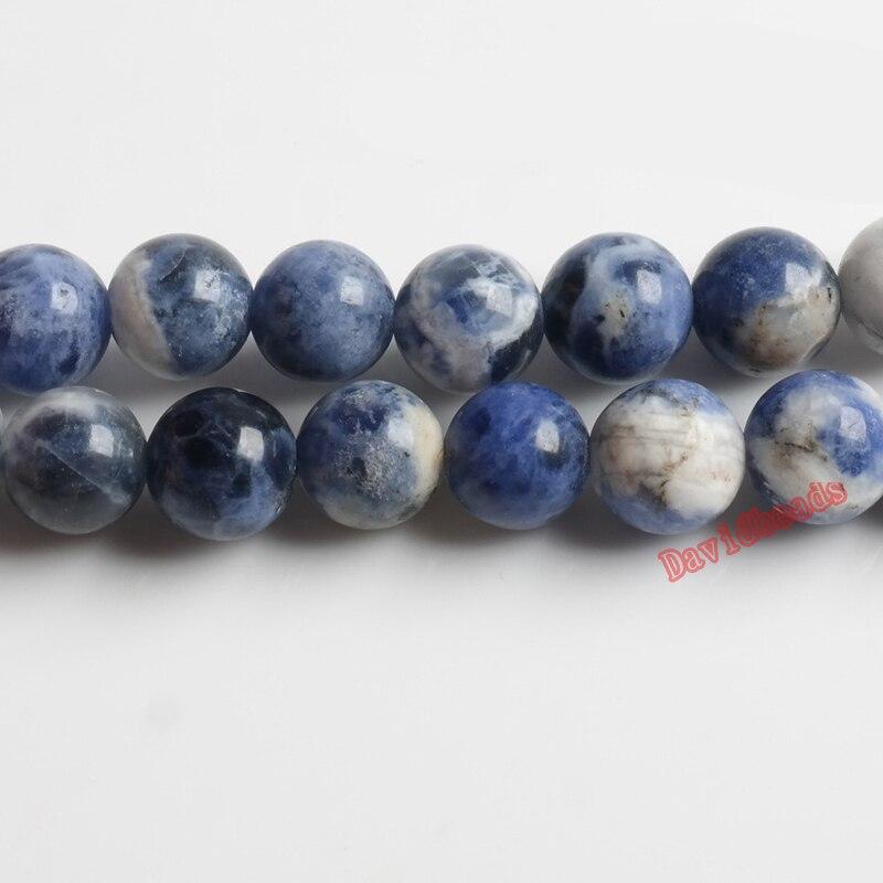 Заводская цена, натуральный камень, новые синие содалитовые круглые бусины россыпью, нить 4, 6, 8, 10, 12 мм, размер на выбор для изготовления ювелирных изделий