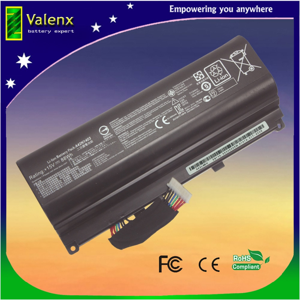 A42N1403 G751J-BHI7T25 batería 88Wh para ASUS ROG G751JT G751JY GFX71JY G751 4ICR19/66-2 0B110-00340000 A42LM9H A42LM93