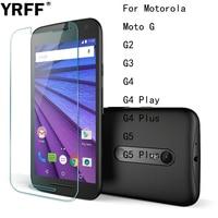 10 шт. 2.5D 0,26 мм Премиум HD закаленное стекло, Защитная пленка для экрана Motorola Moto G G2 G3 G4 Play G5 Plus