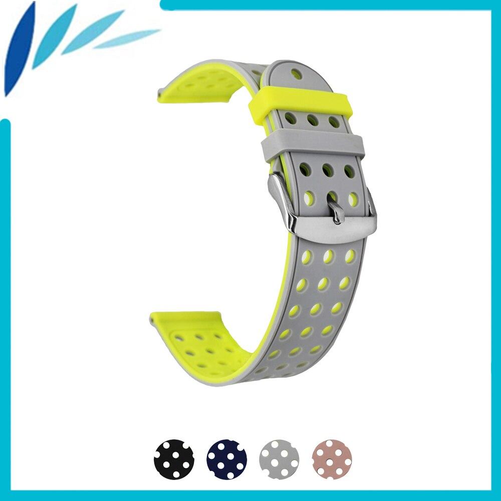 Borracha de Silicone Watch Band 18mm 20mm 22mm 24mm para Hamilton Alça Alça De Pulso Pulseira Cinto Cinza preto Verde Rosa Vermelho + Ferramenta