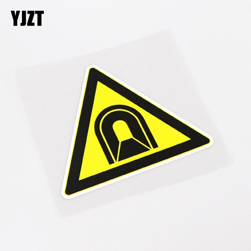 YJZT 12CM*10.1CM Warning Mark Be Careful Tunnel Car Sticker Decal PVC Waterproof 13-0874