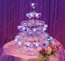 Présentoir à gâteaux circulaires pour avion   Tour à champagne de mariage à 3 niveaux Style européen hôtels de luxe, Stand en verre pour avions de desserts