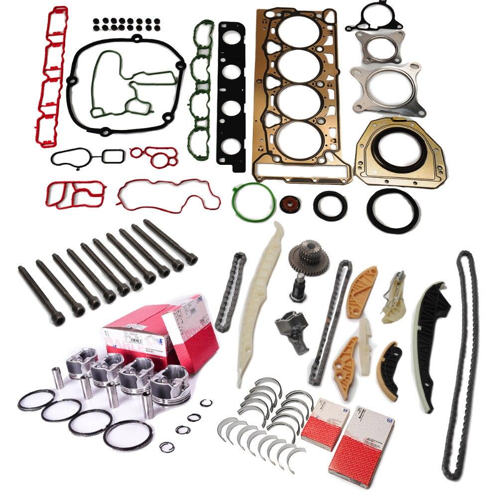 Pistões de motor anéis selos reconstruir conjunto revisão reconstruir pistões anéis para vw audi seat skoda 1.8 tsi cda cdh cdaa cdha cdhb
