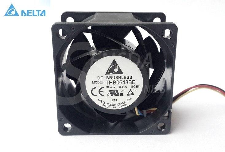 Nouveau pour delta THB0648BE 6CM 6038 48V 0.41A 4 ventilateurs de serveur PWM