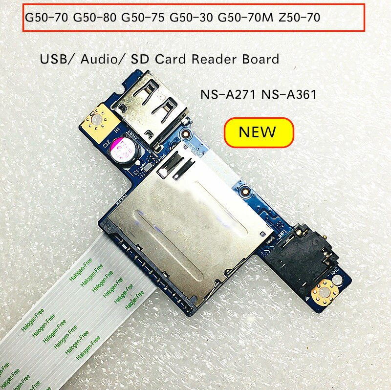 Para Lenovo G50-70 G50-80 G50-75 G50-30 G50-70M Z50-70 de Audio USB SD placa lectora de tarjetas con Cable NS-A271 NS-A361