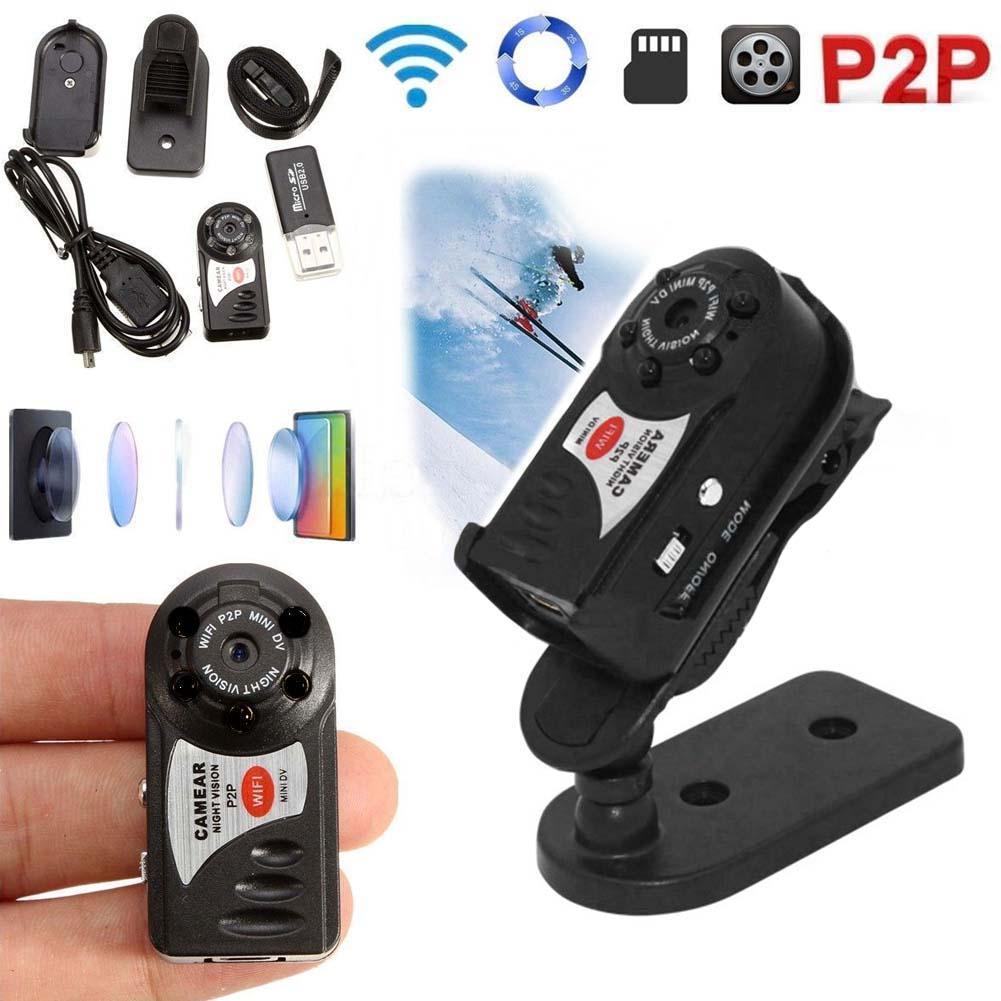 Tarjeta de 32 GB + cámara inalámbrica WIFI Q7 Mini P2P DV grabadora de vídeo DVR visión nocturna