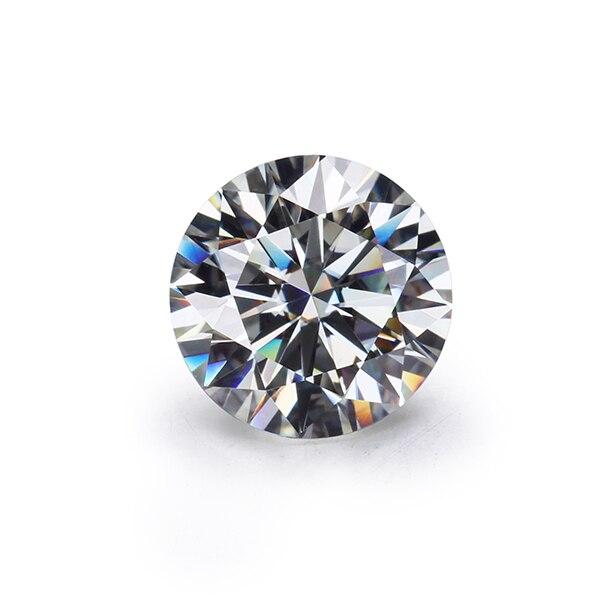 حجر مويسانيتي فضفاض ، CHEESTAR ، لون gh ، 7.5 مللي متر ، دائري ، 8 قلوب و 8 سهام ، مقطوع ، 1.5 قيراط ، أحجار كريمة مويسانيتي ، ألماس مزيف