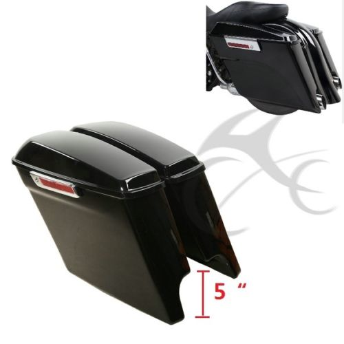 TCMT-حقائب سرج قابلة للتمدد مع مفاتيح ، لـ Harley Touring FLHTCU Road Electra Street Glide 2014-2020 ، 5 بوصات