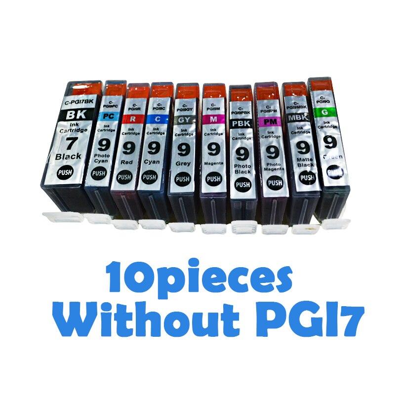 10 шт. совместимые картриджи для canon PGI-9 PGI 9 PGI9 для Canon MX7600/iX7000/IX7000 RFB MX7600/Pro9500 картриджи для принтеров