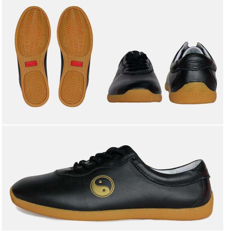 أحذية تاي تشي من جلد البقر عالية الجودة ، أحذية تدريب الكونغ فو وشو ، أحذية رياضية وفنون الدفاع عن النفس