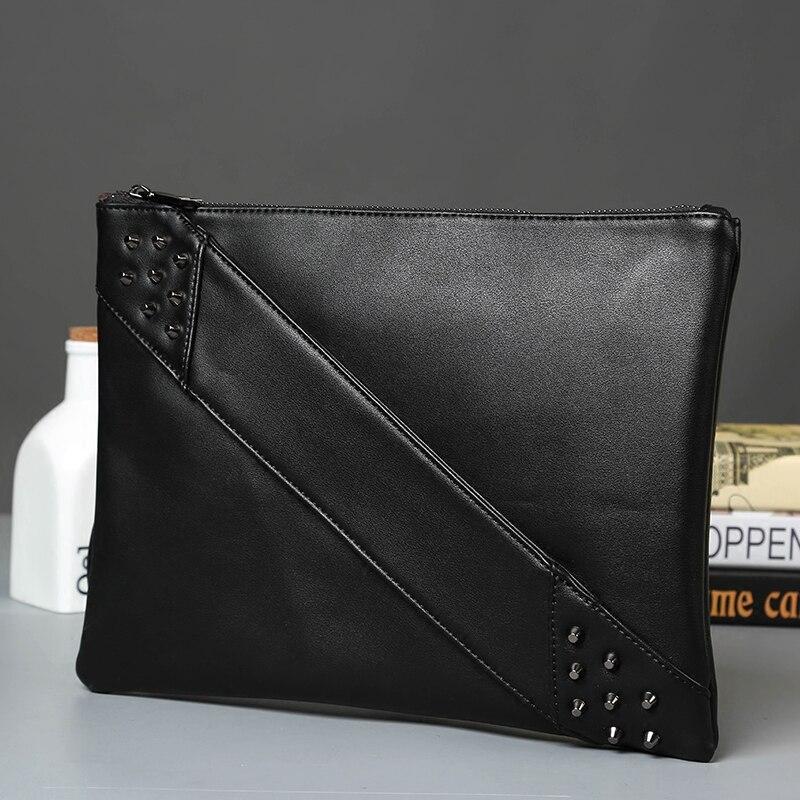 Tidog New fashion tide rivet bag handbag clutch bag