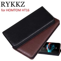 rykkz luxury leather flip cover for homtom ht16 5 protective mobile phone case leather cover for homtom ht16