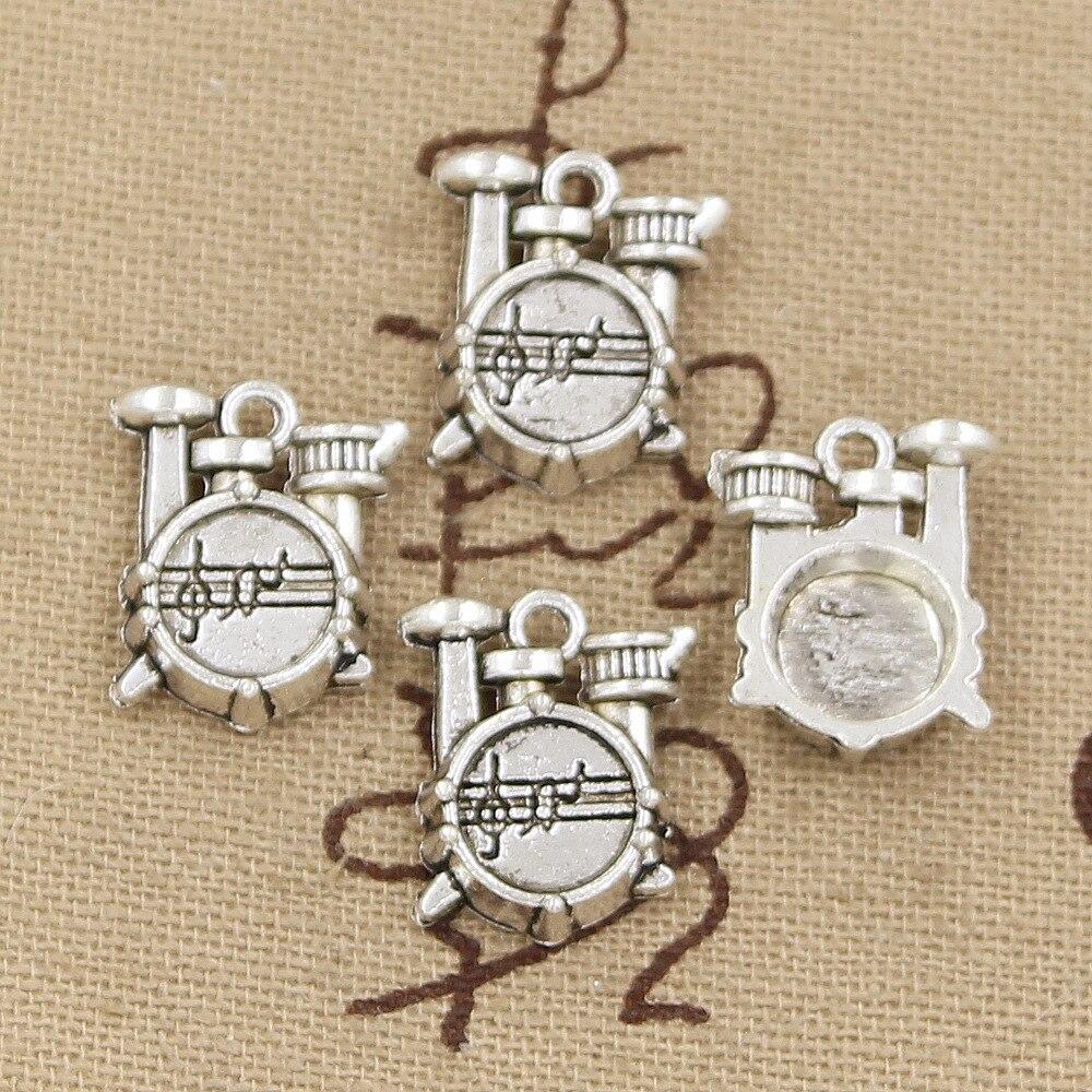 15 шт шармов барабанный Набор 16x14x4 мм античная серебряная Бронзовая Подвеска Сделай Сам тибетское серебро ручной работы цвет бронзовые ювелирные изделия