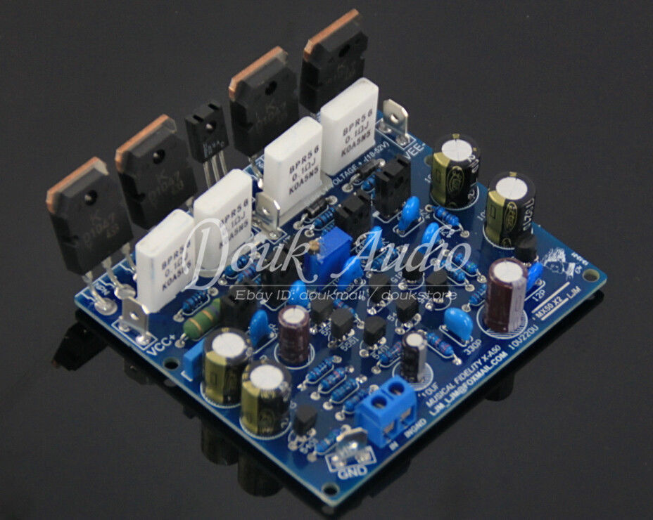 Montado xa50 placa de amplificador mx50x2 classe ab estéreo lmj 100 w + 100 w placa