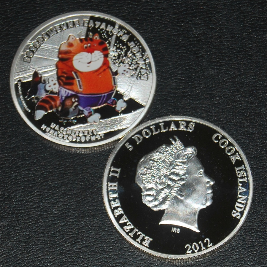 Free Shipping 6pcs/lot,2012 Queen Elizabeth ii Silver Coin - The Return of the Prodigal Parrot Cat/Kesha/Raven Silver Coin