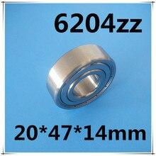 10 pièces en métal blindé 6204 6204ZZ roulement à billes en acier 20x47x14mm 6204-2Z portant 20mm 20*47*14 6204Z roulement à billes à gorge profonde