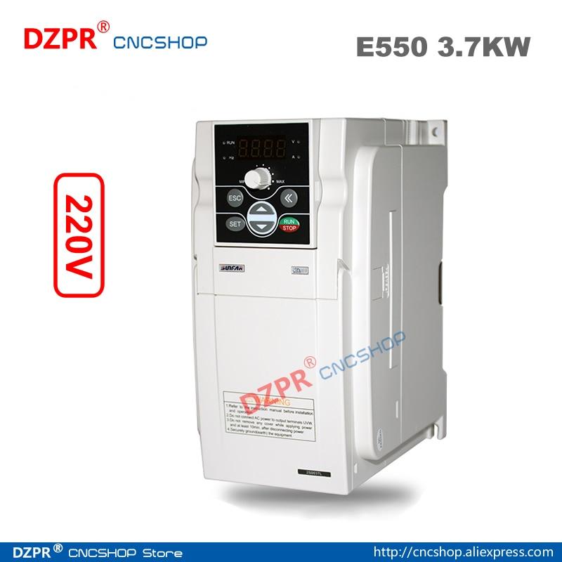 VFD sunfar 3.7KW AC220V E550 router serie CNC inversor de frecuencia para husillo 220V-3.7KW E550-2S0037L SIMPHOENIX VFD