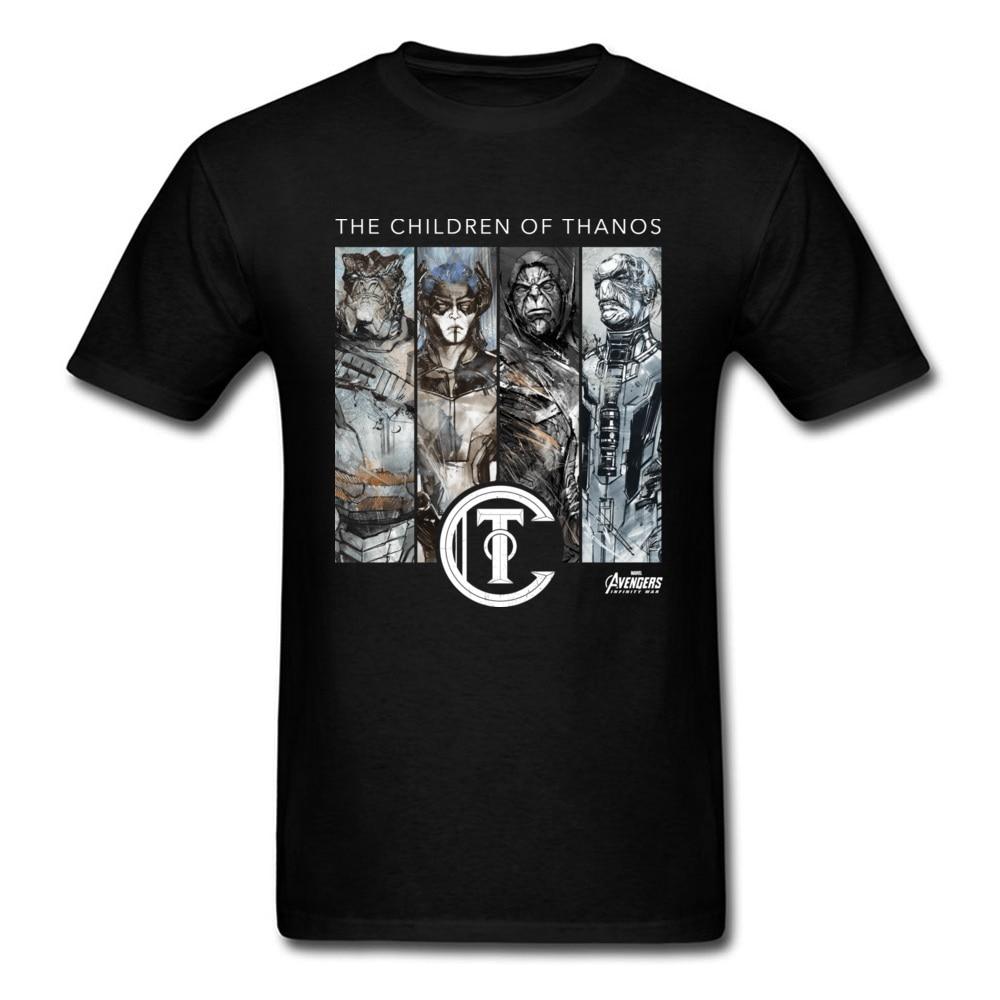 Thanos T-Shirt Marvel Infinity War T Shirt Avengers 3 Men The Universe Kings The Children Of Thanos Destroy Power Tshirt Cotton