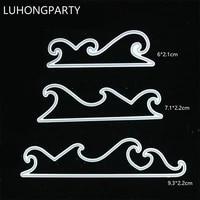 wave cutting dies stencils for diy scrapbookingphoto album decorative embossing diy paper cards luhongparty