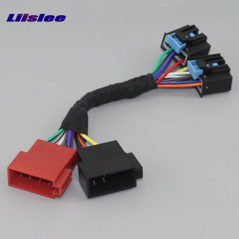 Liislee para Pontiac Solstice G5 Torrent CD de coche reproductor de DVD Cable enchufes en fábrica Radio DIN hembra