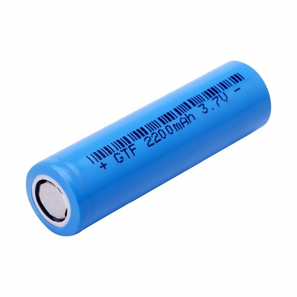 GTF 100% Original Ncr18650 Li-ion Rechargeable Battery real capacity 2200Mah 3.7V For Panasonic Flashlight Core 18650 Battery