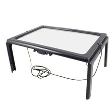 А4 линза Френеля полная страница большой 3х гигантский Hands Free стол увеличительное стекло лупа для чтения шитье вязание с светильник