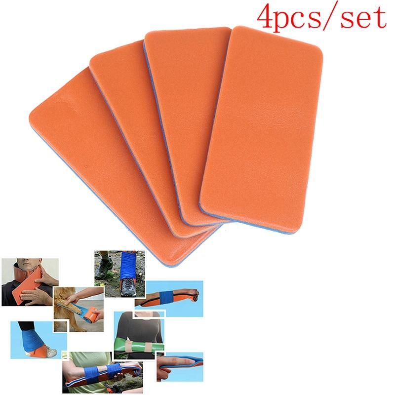 4 Uds férula de dedo impermeable reutilizable Safurance dedo férula aluminio polímero médico ortopédico Kits de tratamiento de emergencia