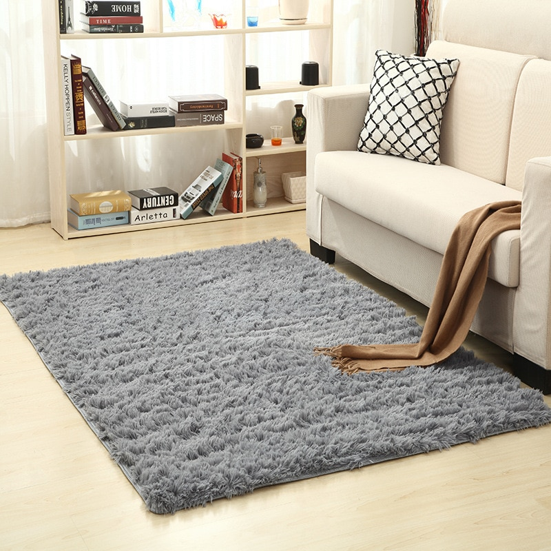 Super Soft Silk Wool Rug Indoor Modern Shag Area Rug Silky Rugs Bedroom Floor Mat Baby Nursery Rug Children Carpet